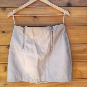 💛2/20💛 Forever 21 Faux Leather mini skirt Beige
